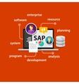 SAP system software enterprise resource planning vector image vector image