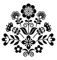 scandinavian folk art cute floral pattern vector image vector image