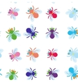 Seamless pattern Funny fly colorful red green blue vector image vector image