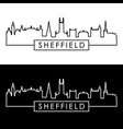 sheffield city skyline linear style editable vector image vector image