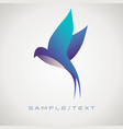 stylized image swallow good for logo isolated vector image