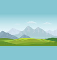 summer landscape background vector image vector image