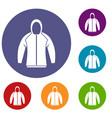 sweatshirt icons set vector image vector image