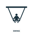 swing icon mobile apps printing and more usage vector image