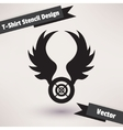 T-Shirt Stencil Design Template for your design vector image vector image