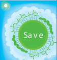 Think Green Ecology Concept vector image