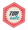 Top sale label vintage style vector image