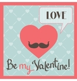 Vintage Valentines Day greeting card with heart vector image vector image