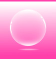 water bubble with pink background vector image vector image