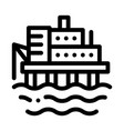 water power plant icon outline vector image vector image