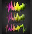 waveforms eq equalizer graphics with spectrum vector image