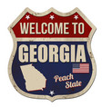 welcome to georgia vintage rusty metal sign vector image vector image
