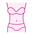 woman figure flat icon body pink icons in trendy vector image vector image