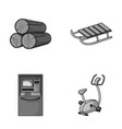 wood industry finance and other monochrome icon vector image