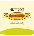 Hot dog logo Hand drawn logo Lettering Quick vector image