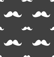 Retro moustache icon sign Seamless pattern on a vector image