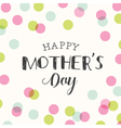 mothers day card background polka dot vector image