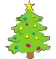 simple of colored christmas vector image