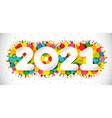 2021 colorful yellow confetti vector image