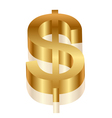3d dollar symbol vector image vector image