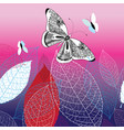background with beautiful butterflies vector image vector image
