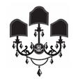 Baroque Elegant Rich Wall lamp vector image vector image
