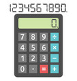 basic calculator and digits vector image