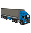 Blue cover semitrailer vector image vector image