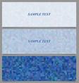 Blue tiled rectangle pattern banner design set vector image vector image