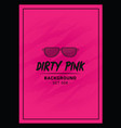 Bold pink event flyer poster template