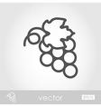 Bunch of grapes outline icon Thanksgiving vector image vector image
