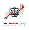 business concept seo logo marketing strategy vector image vector image