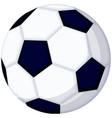 cartoon soccer football ball icon vector image