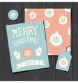 Christmas Templates Retro Paper Collection vector image