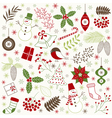 Christmas Time Set vector image vector image