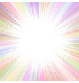 colorful abstract psychedelic ray burst vector image vector image