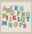 colorful alphabet design vector image vector image
