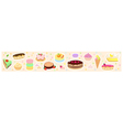 Confections horizontal background vector image vector image