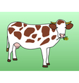 Cow grazing flower vector image vector image