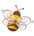 cute bee on white background vector image