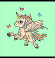 cute unicorn doodle cartoon vector image