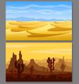 desert landscapes set vector image