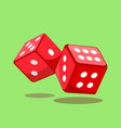 dice gaming sign vector image vector image