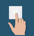 drawing human hand push switch vector image