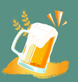 drink mug of beer barley background image vector image vector image