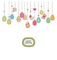 Easter hang eggs vector image vector image
