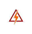 electric warning logo vector image