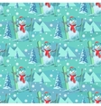 Endless pattern Christmas theme seamless vector image