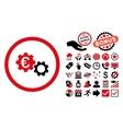 Euro Mechanics Flat Icon with Bonus vector image vector image