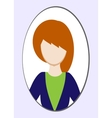 Female avatar or pictogram for social networks vector image vector image